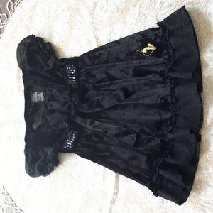 2 for $25 - Size 4 black velour baby phat dress